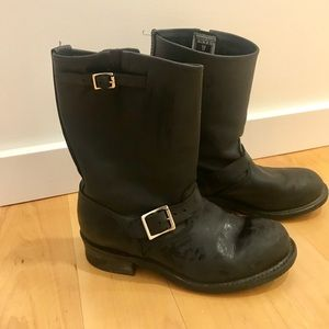 Women's black Frye authentic leather boots!